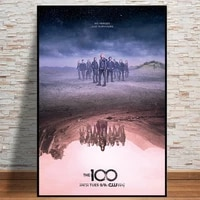 the 100 tv science fiction movie oil painting on canvas posters and prints cuadros wall art pictures for living room