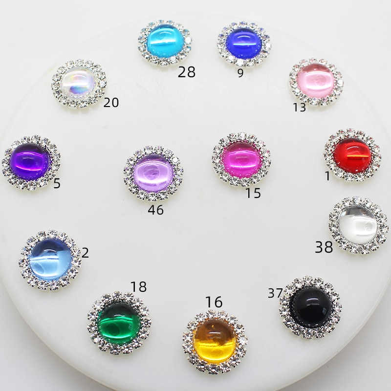 New product hot sale 10pcs / lot 15mm fashion round rhinestone DIY jewelry accessories hair headdress bow access