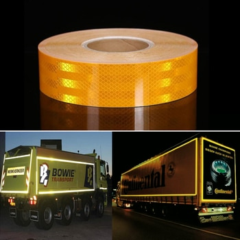 5cmx50m/Roll Yellow White Red Waterproof For Truck Accessories  Decoration Tapes Car Decals