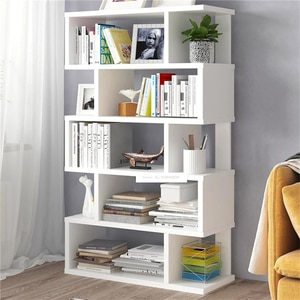 Living Room Space Saving Small Manmade Board Floor Bookshelf Bedroom Modern Simple Multifunctional Student Display Bookcase