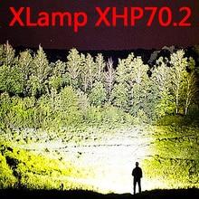 Lampe de chasse à la main, enserrant une torche 26650 étanche xhp70,2 3 Modes usb, lanterne xhp50, 18650