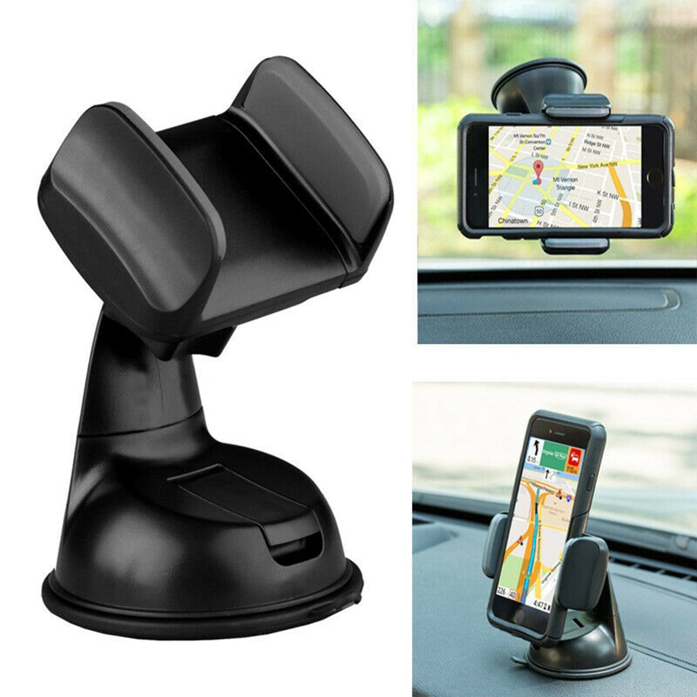 360 rotation automatically locking windshield mount car phone holder in car stand support for samsung iphone 3 styles 3 colors Universal Car Mobile Phone Holder 360 Degrees Rotation Dashboard Suction Mount Stand Cell Phone Holder For Iphone Car Bracket
