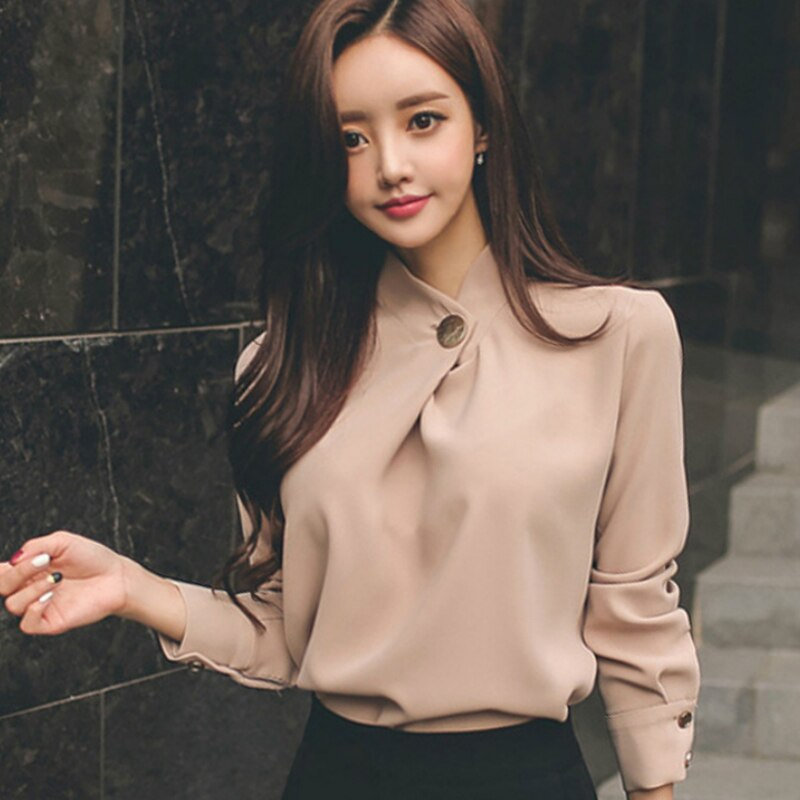 Womens Tops And Blouses Long Sleeve Chiffon Blouse Shirt Fashion 2021 Women Office Blusas Clothes