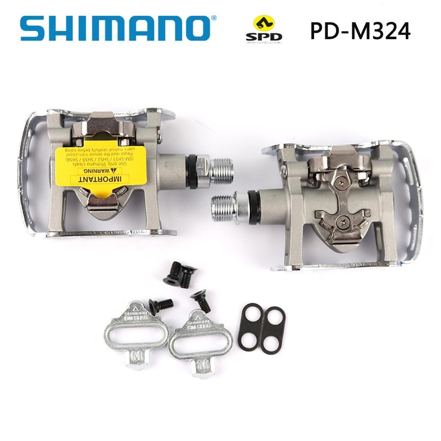 Shimano-pedales PD M324 PD-M324 SPD para bicicleta de montaña, juego de SM-SH56...