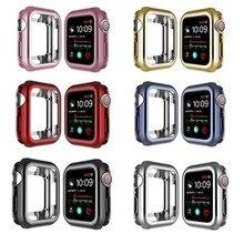 Funda de reloj para Apple Watch 6, 5, 4, 40MM, 44MM, Tpu protector Delgado suave para Iwatch Series 3, 2, 1, 38MM, 42MM, accesorios