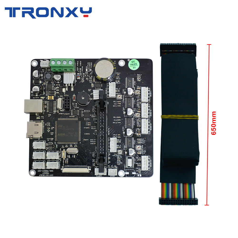 2020 Upgraded 3D Printer Silent Mainboard with Wire Cable Original Supply Controller Board impresora Tronxy X5SA Serie mainBoard