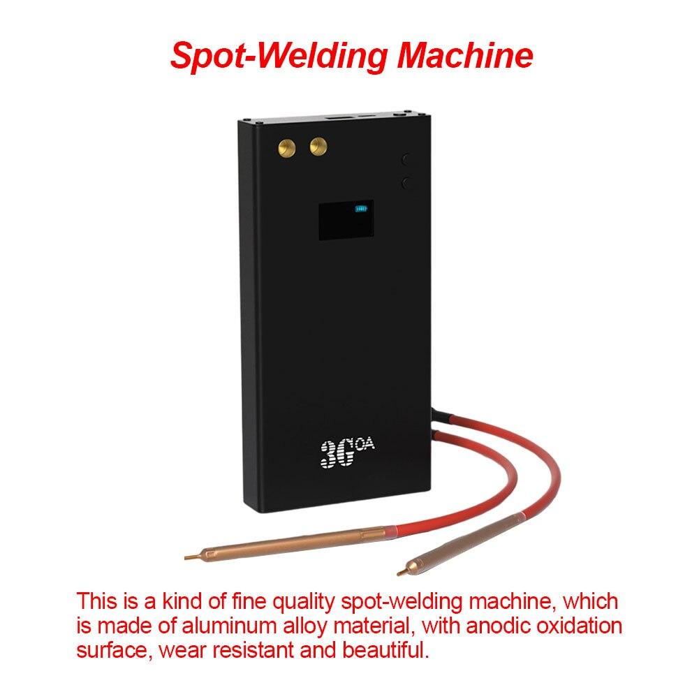 Portable Spot Welder 18650 Lithium Battery LCD Small Spot Touch Welder Handheld 80 Gears Adjustable Fast-Recharging Function enlarge