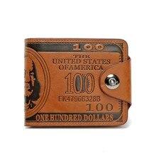 Fashion Men's Leather Wallet Cover Fastening Closure Slim Short Pocket Wallets Card Holder Money Org