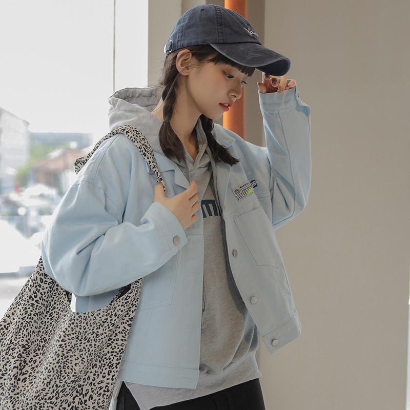 2021 Autumn Korean Style Loose Patch White
