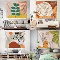 nordic morandi tapestry creative art abstract painting hanging cloth wall background cloth wall decor