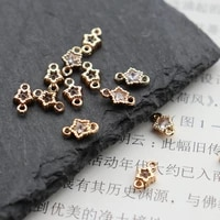 mini star zircon micro inlaid crystal pendant wrapped bracelet earrings accessories for diy necklaces earrings accessories j