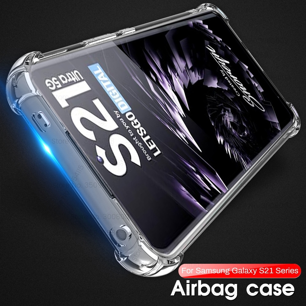 Clear Case and Screen Protector for Samsung Galaxy S21 Ultra Case  + Hydrogel Film + Camera Film on Samsung S20 Plus Cover S21+ enlarge