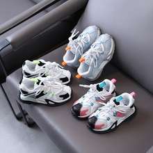 Spring Children's Cute Color Matching Casual Shoes for Boys and Girls Korean Fashion Breathable Non-