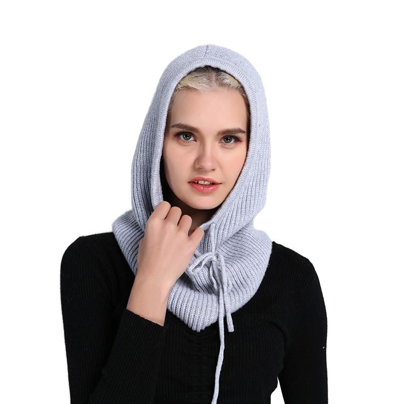 غطاء رأس للجنسين من الكشمير ، غطاء رأس ، قبعة سميكة ، لون سادة ، قابل للتعديل ، مرن ، للجنسين