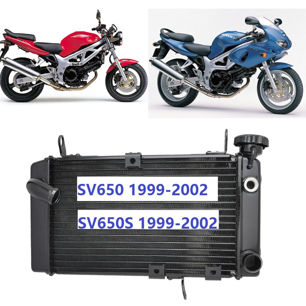 Motorcycle Engine Radiator Motor Bike Aluminium Replace Parts Cooling Cooler For Suzuki SV650 SV650S