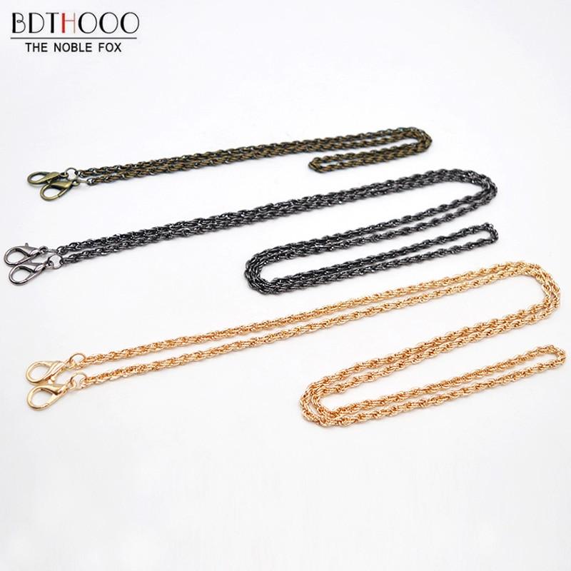 New 120cm 60cm Twist Chain Bag Strap replace Metal for Bags accessories DIY Women Shoulder Purse Chains Parts
