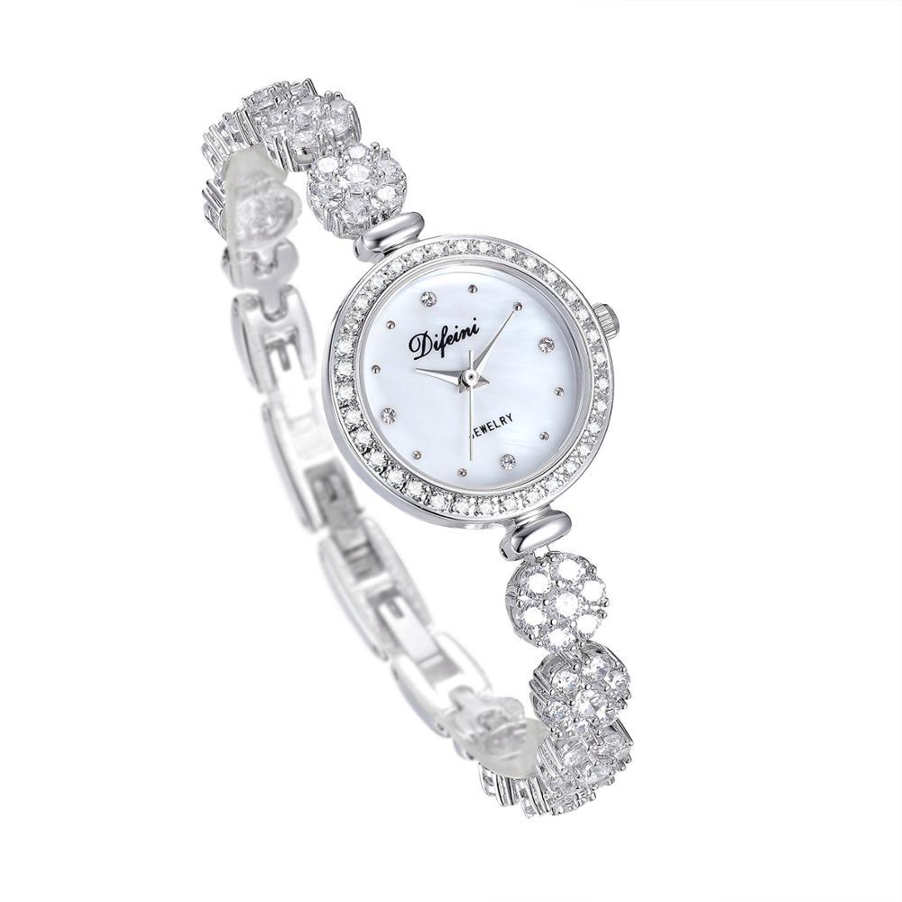 Defini Women's Watch Watch Women's Quartz Watch Birthday Gift Casual Fashion Waterproof Diamond Bracelet Women's Watch enlarge
