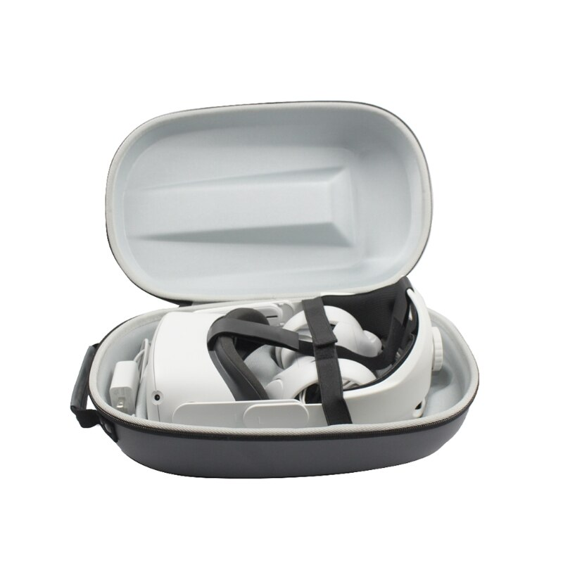 2in1 PU Storage Bag & Adjustable Replacement Comfortable Head Strap foR Carrying Protective Case Accessories enlarge