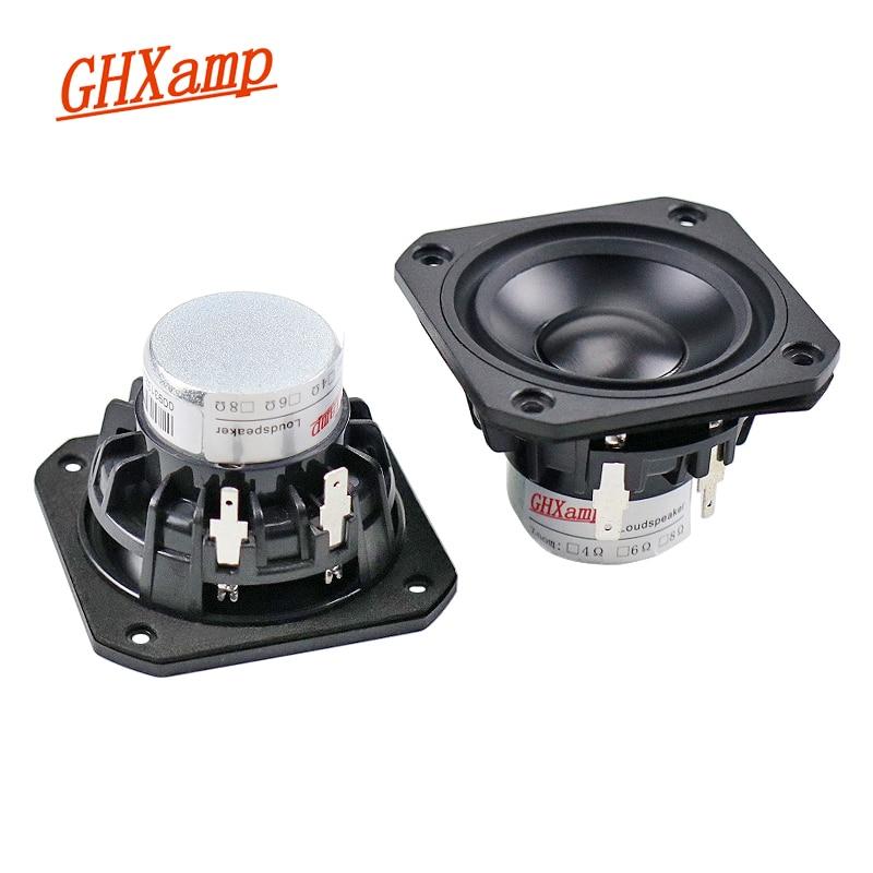 Altavoz GHXAMP de 2,5 pulgadas de rango completo, Unidad de altavoz de cerámica de neodimio de 4Ohm y 15W, altavoz de frecuencia completa, Altavoz Bluetooth DIY 2 uds