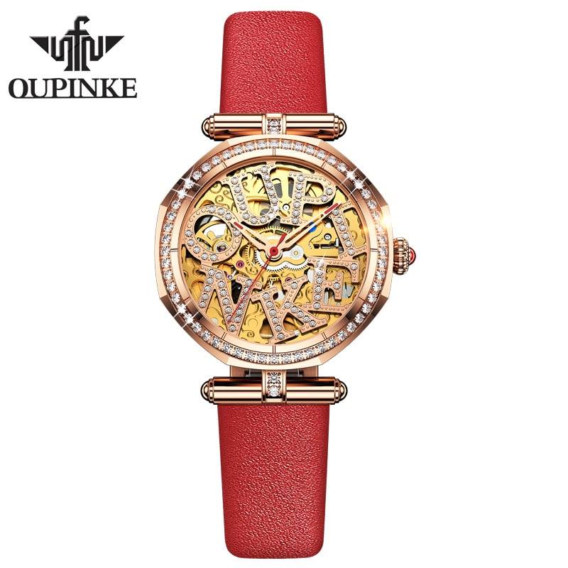 OUPINKE fashion watch female mechanical watch simple temperament luxury fashion waterproof enlarge