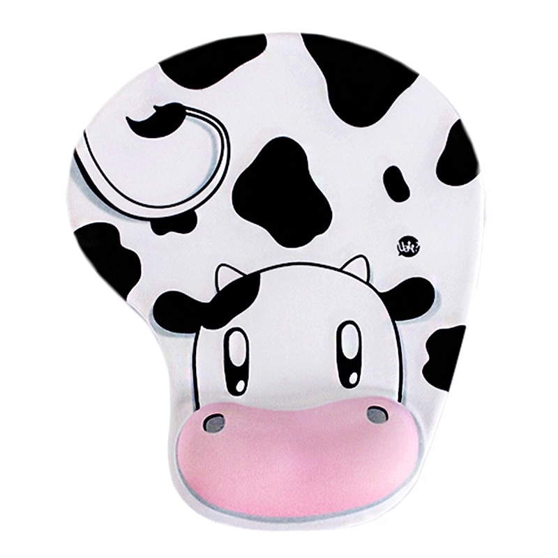 Cute Animal Cow Soft Comfortable Non-slip Memory Foam Comfort Wrist Support Mouse Pad Home Office Computer Accessories