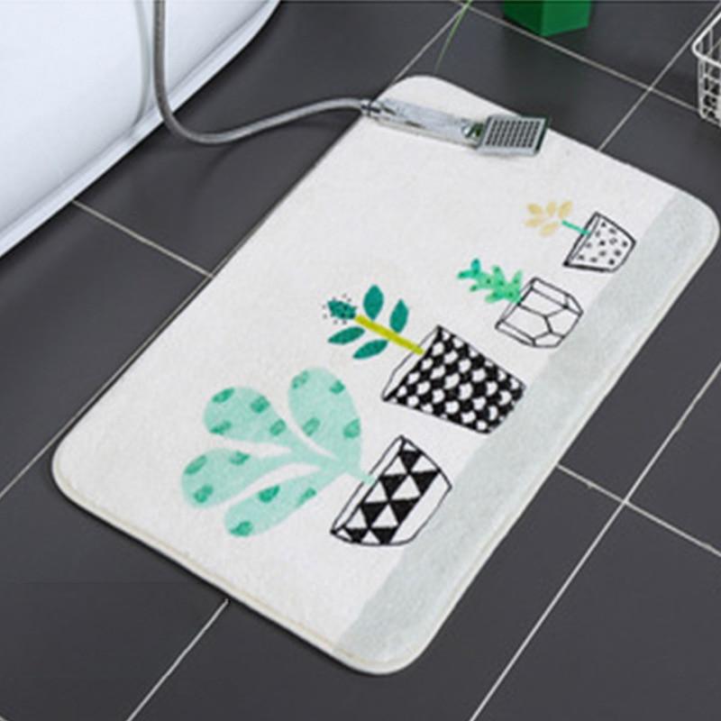 Bathroom Carpet Lamb Wool Memory Foam Bath Mat Cartoon Color Bathroom Carpet Non-slip Absorbent Bath Mat Rugs for Bathroom enlarge