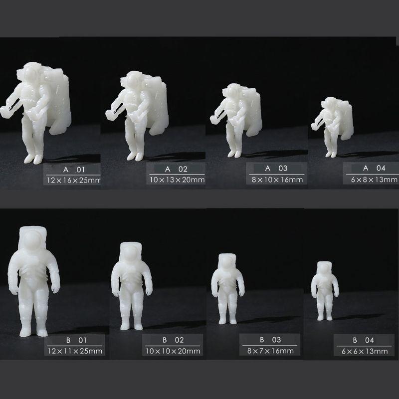 Silicona DIY Mini astronauta molde de fundición de resina Tema del planeta rellenos de resina fabricación de joyas de resina Spaceman joyería molde