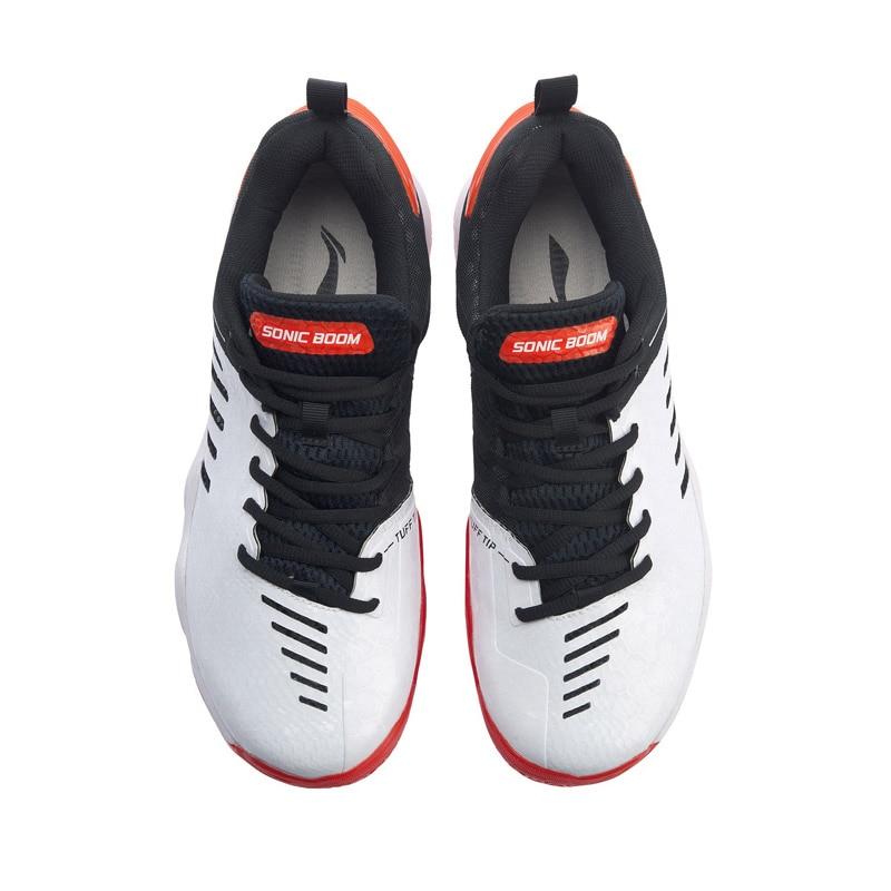 Мужская обувь для бадминтона Li-Ning SONIC BOOM 3,0, профессиональная обувь для бадминтона с углеродной подкладкой, спортивная обувь li ning AYZP009-4