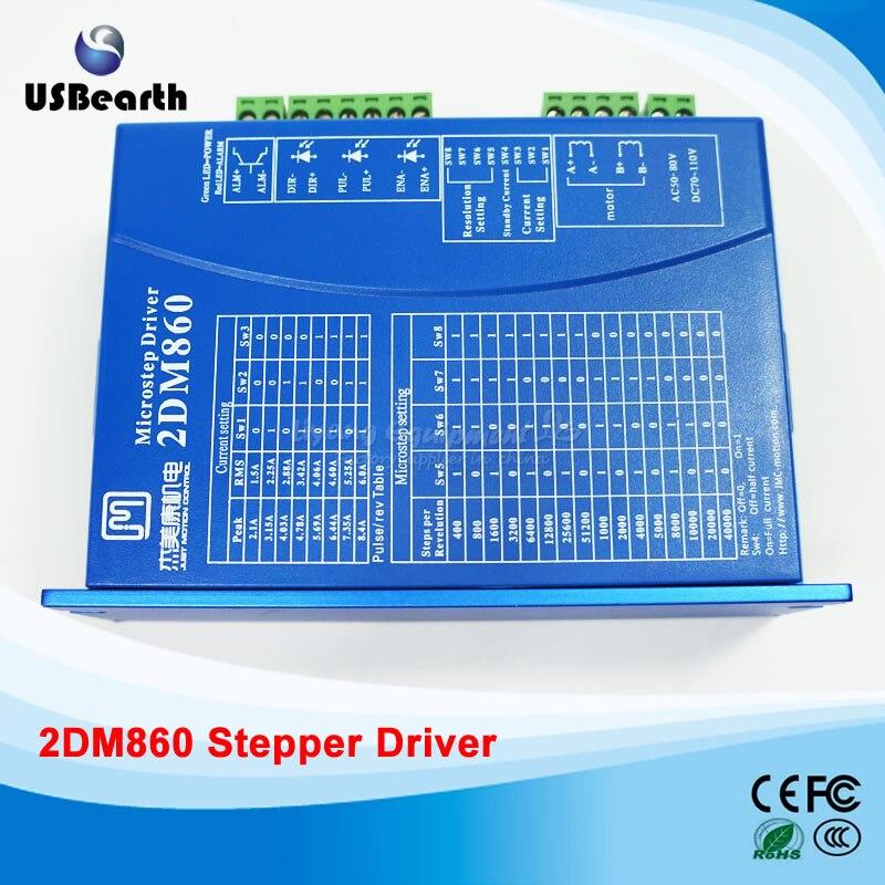 2DM860 цифровой шаговый Драйвер 86 шаговый двигатель привод напряжение AC30-80V