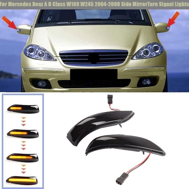 سيارة LED ديناميكية الجانب مرآة الرؤية الخلفية ضوء بدوره Siganl ضوء لمرسيدس ل بنز a B الفئة W169 W245 2004-2008