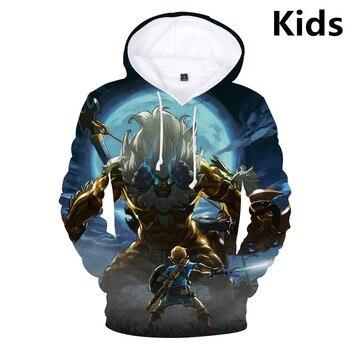 3 To 13 Years Kids Hoodies The Legend of Zelda 3D Printed Hoodie Sweatshirt Boys Girls Long Sleeve Jacket Coat Children Clothes