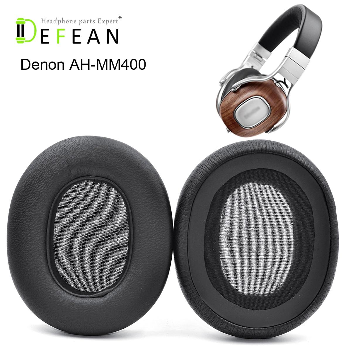 Defean substituição earpads almofada para denon AH-MM400 almofada de couro proteína macia para denon AH-MM400 fone de ouvido