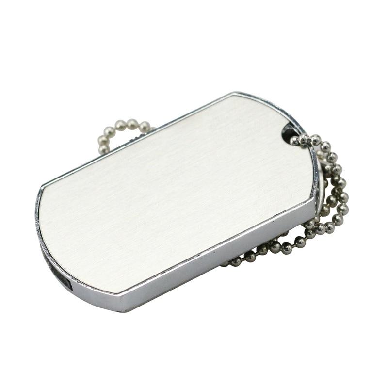 Retail Necklace Military Dog Tag Shape USB Flash Drive PenDrive Memory Stick Disk Pen Drive 4GB 8GB 16GB 32GB Super Quality