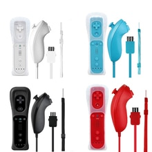 Wireless Gamepad Remote Controller + Nunchuck 2 in 1 For Nintend Wii Controller Joystick Silicone Ca