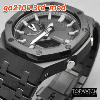 For GA2100 3rd Update Modification Generation Watchband Bezel GA-2100 GA-2110 100% 316L Stainless Steel Accessories With Tools