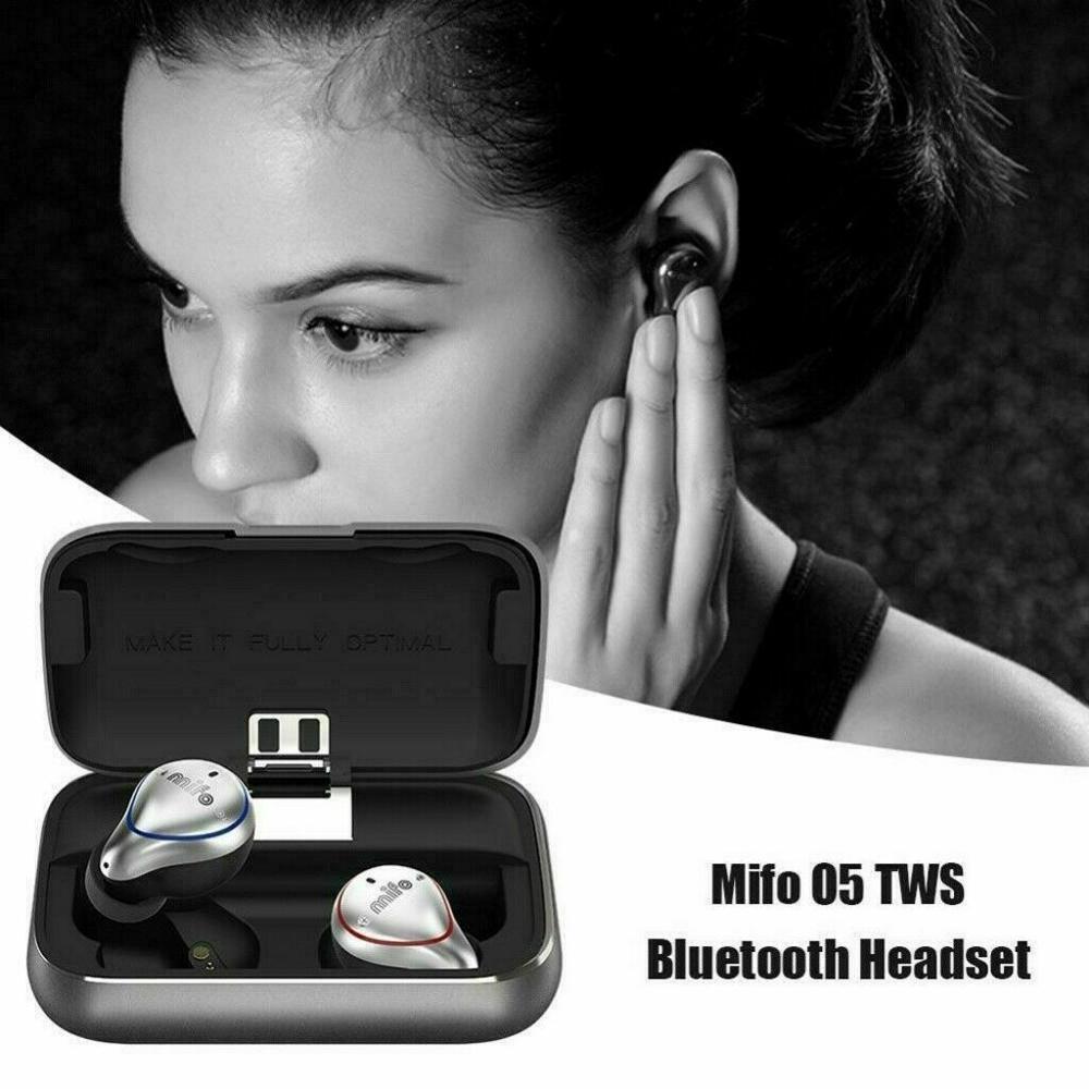 Mifo-سماعة رأس لاسلكية O5 BT5.0 IPX7 ، سماعات أذن رياضية مقاومة للماء ، صوت هاي فاي 2600 مللي أمبير ، مع شحن محمول