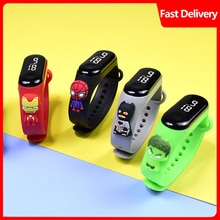 Hot sell Cartoon Doll bracelet watch LED cartoon figures children digital watch students fashion swi