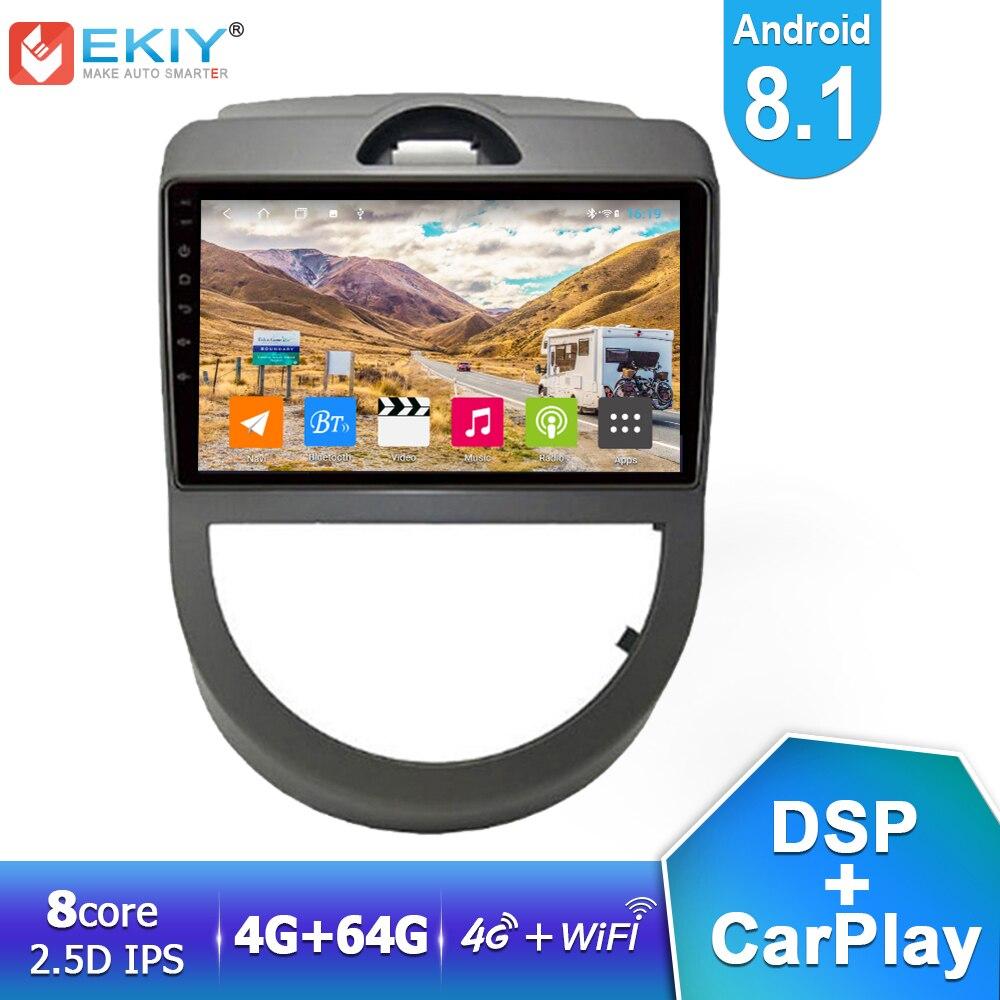EKIY DSP IPS Android 8,1 9 pulgadas reproductor Multimedia para coche 4G + 64G para KIA Soul 2010-2013, Radio Estéreo, GPS Navi Wifi, Carplay BT