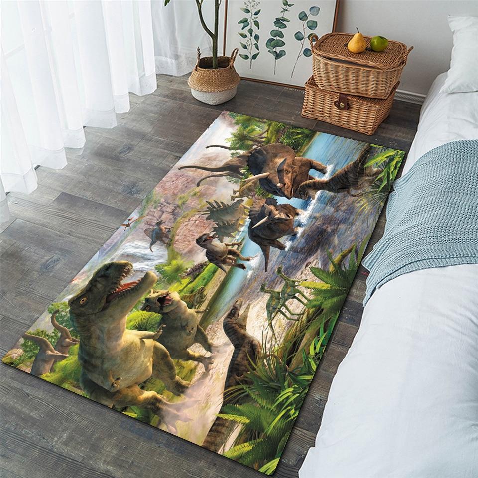 Nordic 3D dinozaur dywan dzieci Sofa do salonu sypialnia dzieci mata do zabawy Cartoon Parlor duże dywany przedpokój wycieraczka do butów 07
