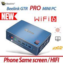 Новый Beelink GTR PRO MINI PC компьютер Windows10 WIFI6 Hi Fi телефон тот же Экран игровой отпечатков пальцев AMD Ryzen 5 3550H ТВ билетная касса