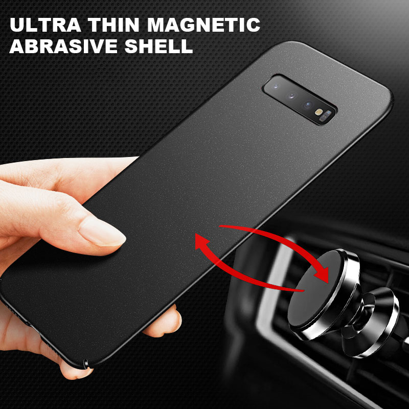Ultra-thin Magnetic Hard Matte PC Phone Case For Samsung Galaxy S21 S20 S10 E S9 S8 Note 20 10 9 8 P