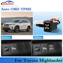 Car OBD TPMS Tire Pressure Monitoring System For Toyota Highlander 2009-2017 Auto Security Alarm Sys