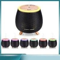 Diffuseur dhuile essentielle avec humidificateur dair aromatique  appareil electrique daromatherapie a brume fraiche ultrasonique pour la maison  7 couleurs reglables  90 ml