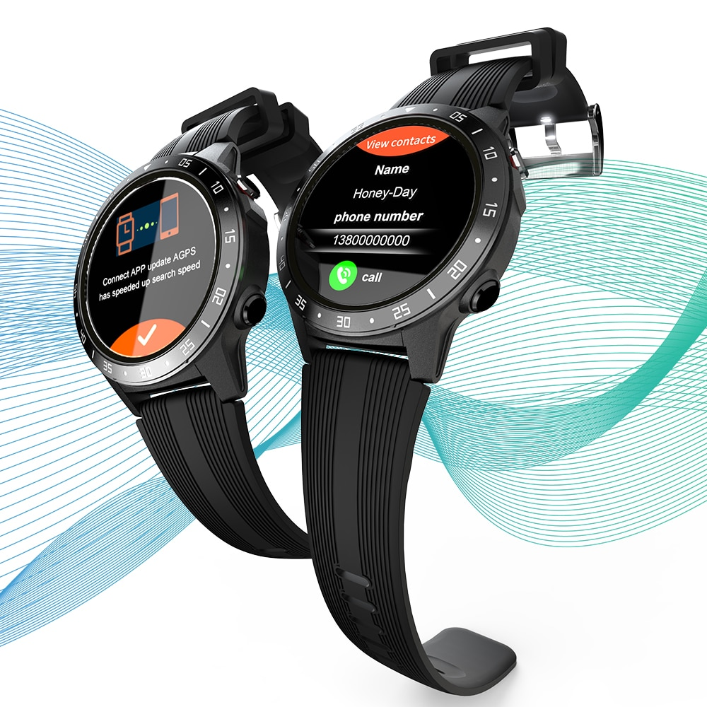 LOKMAT-ساعة رياضية متصلة TK05 BT3.0 ، GPS ، معدل ضربات القلب ومراقبة ضغط الدم ، بطاقة SIM ، مكبر صوت مغناطيسي ، GPS ، مقاوم للماء ، 4.0
