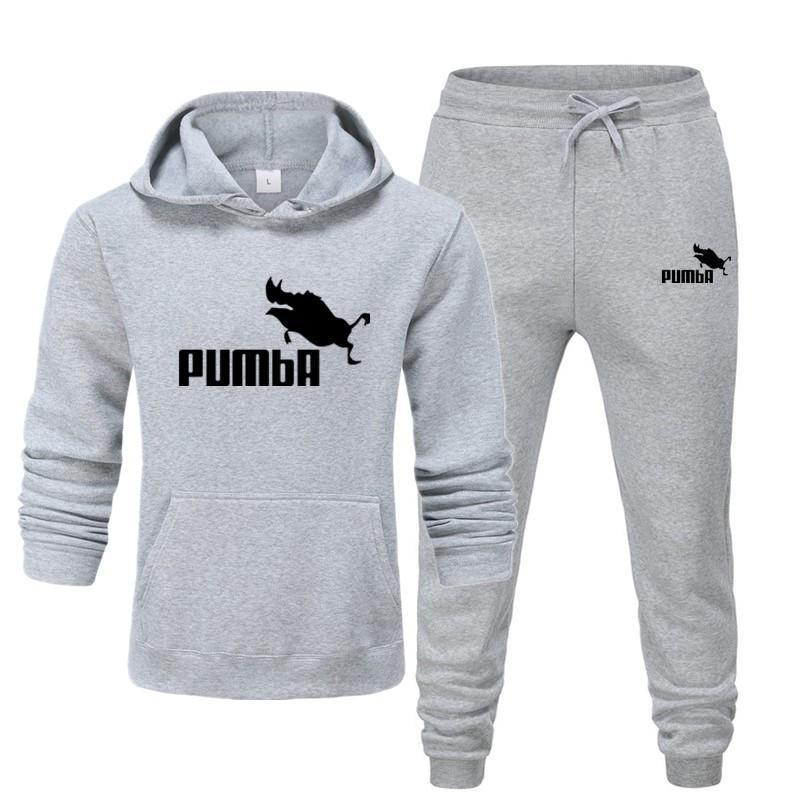 Recente pumba dois pieces hoodie batman com capuz masculino casual algodão outono/inverno quente sweatshirts casual traje de treino masculino S-XXXL