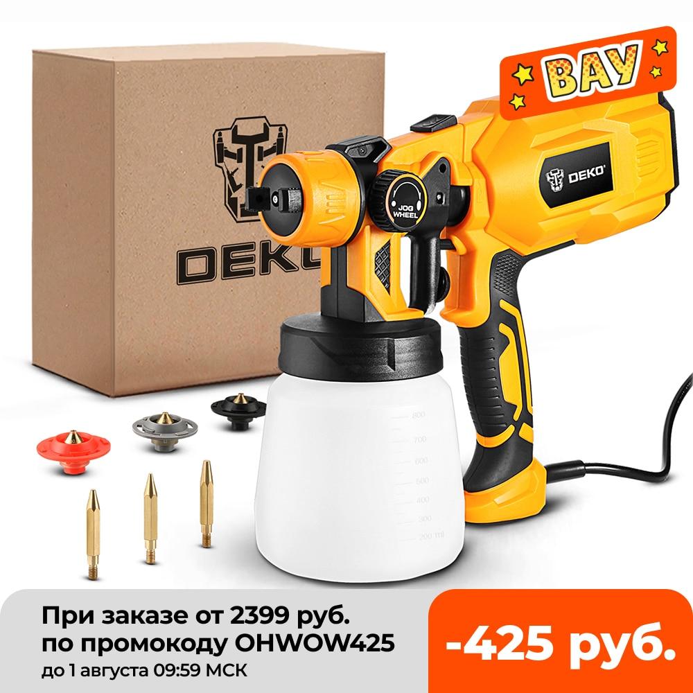 Spray Gun , DKSG55K1/20VDKCX01 High Power Electric Paint Sprayer,3 Nozzle & 800 ml Large capacity,HVLP, Easy Spraying by DEKO