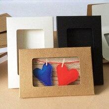 10 pièces/lot Style rétro noir blanc brun papier creux enveloppes 3 couleur Kraft papier enveloppe Photo carte postale paquet sac