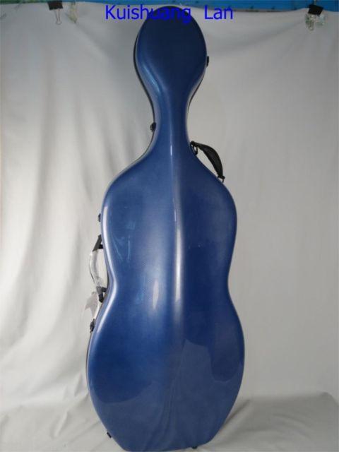 Bonita funda de material compuesto de fibra de carbono azul para violonchelo 4/4 MA