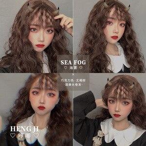 Wig Women's Long Curly Hair Wool Roll Instant Noodles Roll Air Bangs Natural Net Red Egg Roll Headgear Lolita  Lolita wig