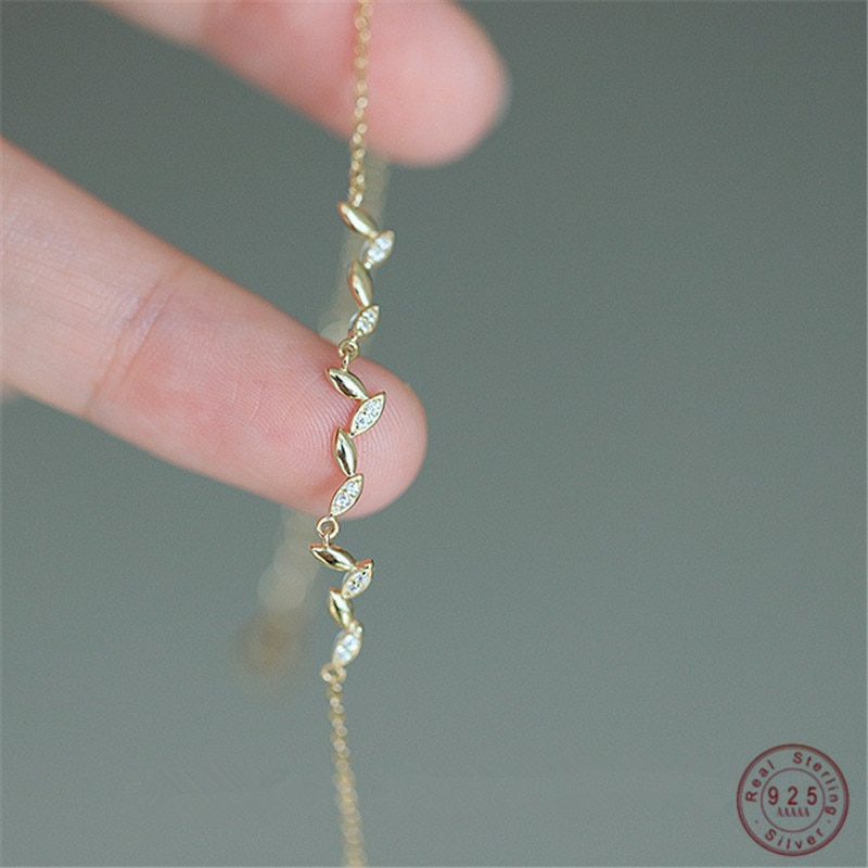 AliExpress - 925 Sterling Silver French Creative Malt Tassel Bracelet Women Pavé Crystal Sparkling Temperament Wedding Jewelry Gift